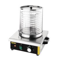 Buffalo Hotdog verwarmer | 450W | Met glazen cilinder | 340x340x370(h)mm