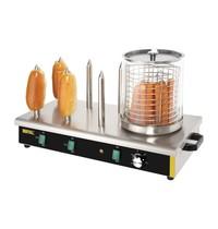 Buffalo Hotdog verwarmer | 750W | 6 warmhoud pennen | 670x340x370(h)mm