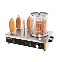 Buffalo Hotdog verwarmer   650W   Met 4 warmhoud pennen   550x340x370(h)mm