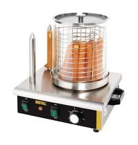Buffalo Hotdog verwarmer | 550W | Met 2 warmhoud pennen | 410x340x370(h)mm