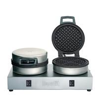 DUALIT Wafelijzer dubbel 74002 | 1,6kW/h | 60 wafels/h | 400x220x190(h)mm