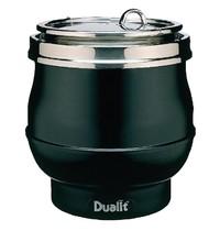 DUALIT Soepketel Hotpot zijdeglans zwart 11 liter |  38(h) x 34(Ø)cm