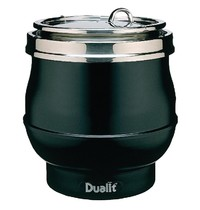 DUALIT Soepketel Hotpot zijdeglans zwart 11 liter    38(h) x 34(Ø)cm