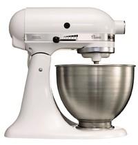 KITCHEN AID Mixer wit K45 4,28L |275W | Met afneembare kom | 358x221x333(h)mm