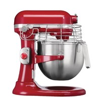 KITCHEN AID Mixer rood 6,9L   325W   Met vaste kom   371x287x417(h)mm