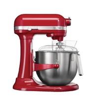 KITCHEN AID Mixer rood 6,9L   500W   Met vaste kom   270x390x420(h)mm