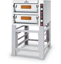 Italforni Pizza oven elektrisch INOX | 4+4 Ø 33 cm | 9kW/h | 910x840x700(h)mm