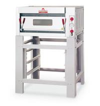 Italforni Pizza oven elektrisch INOX | 1x4 Ø33cm | 4,5kW/h | 910x840x430(h)mm
