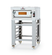 Italforni Pizza oven elektrisch INOX | 1x4 Ø 30 cm | 4 kW/h | 850x950x460(h)mm
