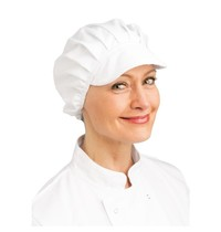Whites Chefs Clothing Whites muts met klep wit | Polyester/katoen