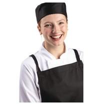 Whites Chefs Clothing Whites unisex polykatoen skullcap zwart   Polyester/katoen