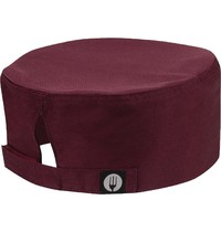 ChefWorks Chef Works Cool Vent beanie bordeaux | Polyester/katoen