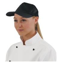 Whites Chefs Clothing Whites baseball cap zwart   Polyester/katoen