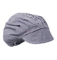 Whites Chefs Clothing Whites muts met klep blauw-wit geruit | Polyester/katoen