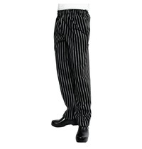 ChefWorks Chef Works Designer Baggy uniseks koksbroek zwart-wit gestreept | Polyester/katoen