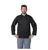 Whites Chefs Clothing Whites Vegas koksbuis lange mouw zwart   Polyester/katoen