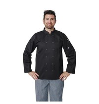 Whites Chefs Clothing Whites Vegas koksbuis lange mouw zwart | Polyester/katoen