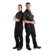 Whites Chefs Clothing Whites Vegas koksbuis korte mouw zwart   Polyester/katoen
