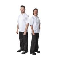 Whites Chefs Clothing Whites Boston unisex koksbuis korte mouw wit   65% Polyester - 35% Katoen