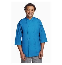 ChefWorks Chef Works unisex koksbuis blauw   Polyester/katoen