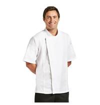 ChefWorks Chef Works Springfield unisex koksbuis met rits wit   Polyester/katoen