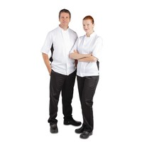 Whites Chefs Clothing Whites Nevada koksbuis wit met zwart contrast