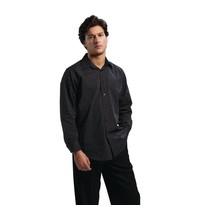 Uniform Works Uniform Works overhemd lange mouw krijtstreep | Polyester/Katoen