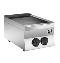 Gastro-Inox 650 HP keramische kooktoestel met 2 kookzones 40cm | 4,3 kW/h | 400x650x295(h)mm