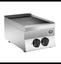 Gastro-Inox 650 HP keramische kookplaat met 2 kookzones 40cm | 5 kW/h | 400x650x295(h)mm