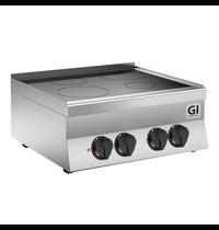 Gastro-Inox 650 HP keramische kookplaat met 4 kookzones 70cm   10kW/h   700x650x295(h)mm