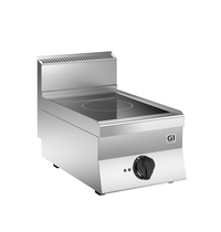 Gastro-Inox 650 HP inductie kookplaat met 1 kookzone 40 cm | 5kW/h | 400x650x295(h)mm