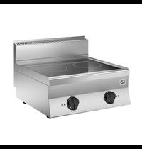 Gastro-Inox 650 HP inductie kookplaat met 2 kookzones 40 cm | 10kW/h | 700x650x295(h)mm