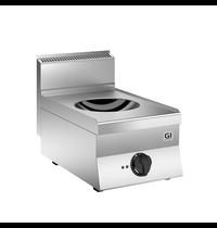 Gastro-Inox 650 HP inductie wok met 1 kookzone 40cm | 5kW/h | 400x650x295(h)mm
