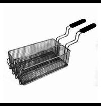 Gastro-Inox 650 HP RVS frituurmanden set 1/2 voor elektrische friteuses | 80x300x100(h)mm