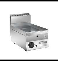 Gastro-Inox 650 HP RVS gas bakplaat met glad geslepen speciaal stalen plaat 40cm | 5kW/h | 400x650x295(h)mm