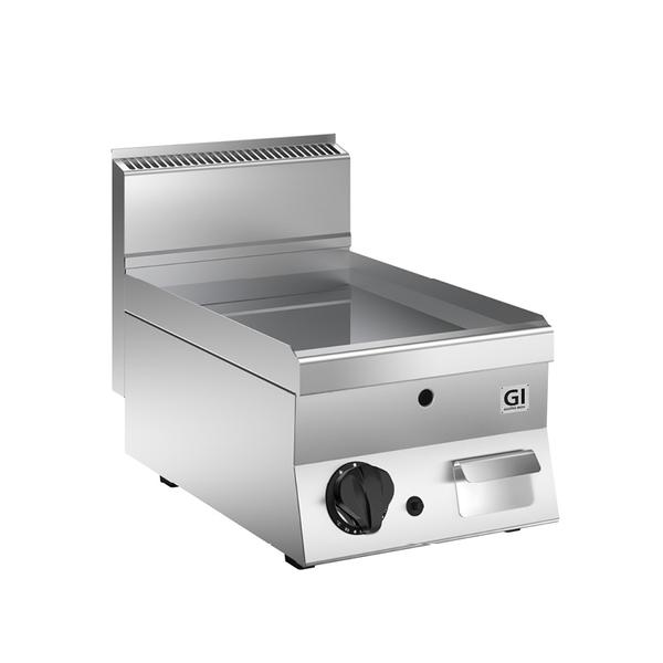 650 HP gas bakplaat met gladde verchroomde plaat 40cm | 5 kW/h | 400x650x295(h)mm