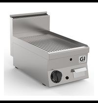 Gastro-Inox 650 HP gas bakplaat met geribbelde RVS plaat 40cm | 5kW/h | 400x650x295(h)mm