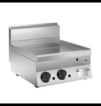 Gastro-Inox 650 HP gas bakplaat met glad geslepen RVS plaat 60cm | 10 kW/h | 700x650x295(h)mm