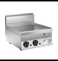 Gastro-Inox 650 HP  gas bakplaat met gladde verchroomde plaat 60cm | 10 kW/h | 700x650x295(h)mm