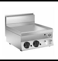 Gastro-Inox 650 HP gas bakplaat met gladde speciaal stalen plaat 80cm | 12,5 kW/h | 800x650x295(h)mm