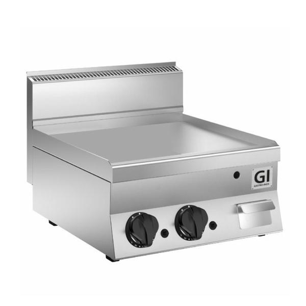 650 HP gas bakplaat met gladde RVS plaat 80 cm   12,5 kW/h   800x650x295(h)mm