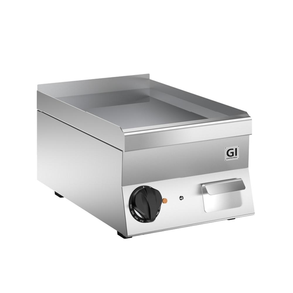 650 HP elektrische bakplaat met gladde RVS plaat 40cm | 3,6kW/h | 400x600x295(h)mm