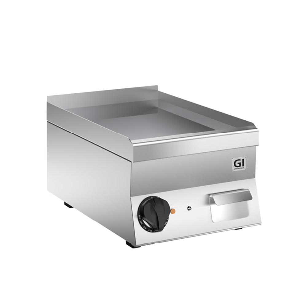 650 HP elektrische bakplaat met gladde verchroomde plaat 40cm | 3,6kW/h | 400x600x295(h)mm