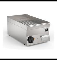 Gastro-Inox 650 HP elektrische bakplaat met geribbelde RVS plaat 40cm | 3,6kW/h | 400x600x295(h)mm