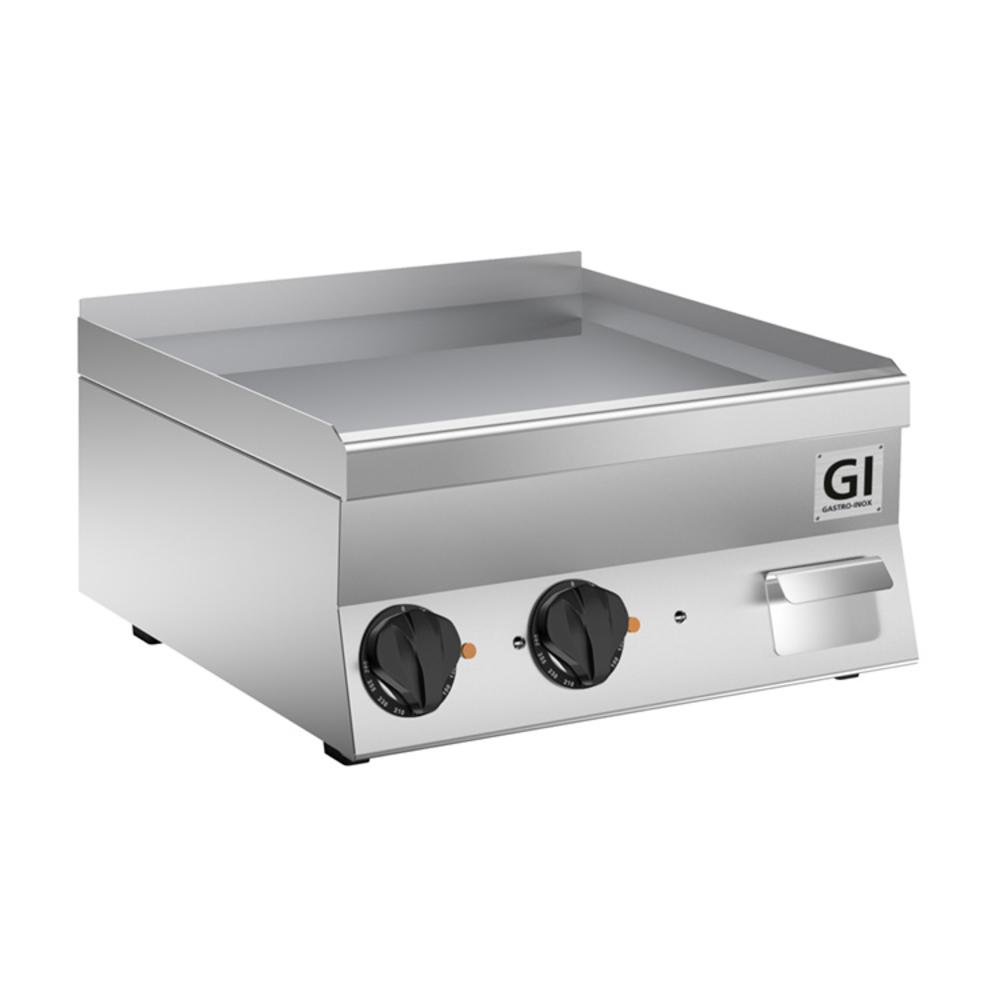 650 HP elektrische bakplaat met gladde geslepen speciaal stalen plaat 60cm   7,8kW/h   600x600x295(h)mm