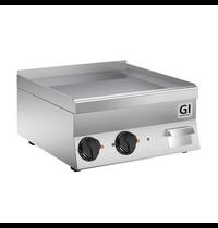 Gastro-Inox 650 HP elektrische bakplaat met gladde geslepen speciaal stalen plaat 60cm | 7,8kW/h | 600x600x295(h)mm
