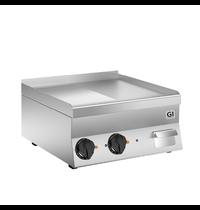 Gastro-Inox 650 HP elektrische bakplaat half geribbeld - half glad RVS plaat 60cm | 7,8kW/h | 600x600x295(h)mm