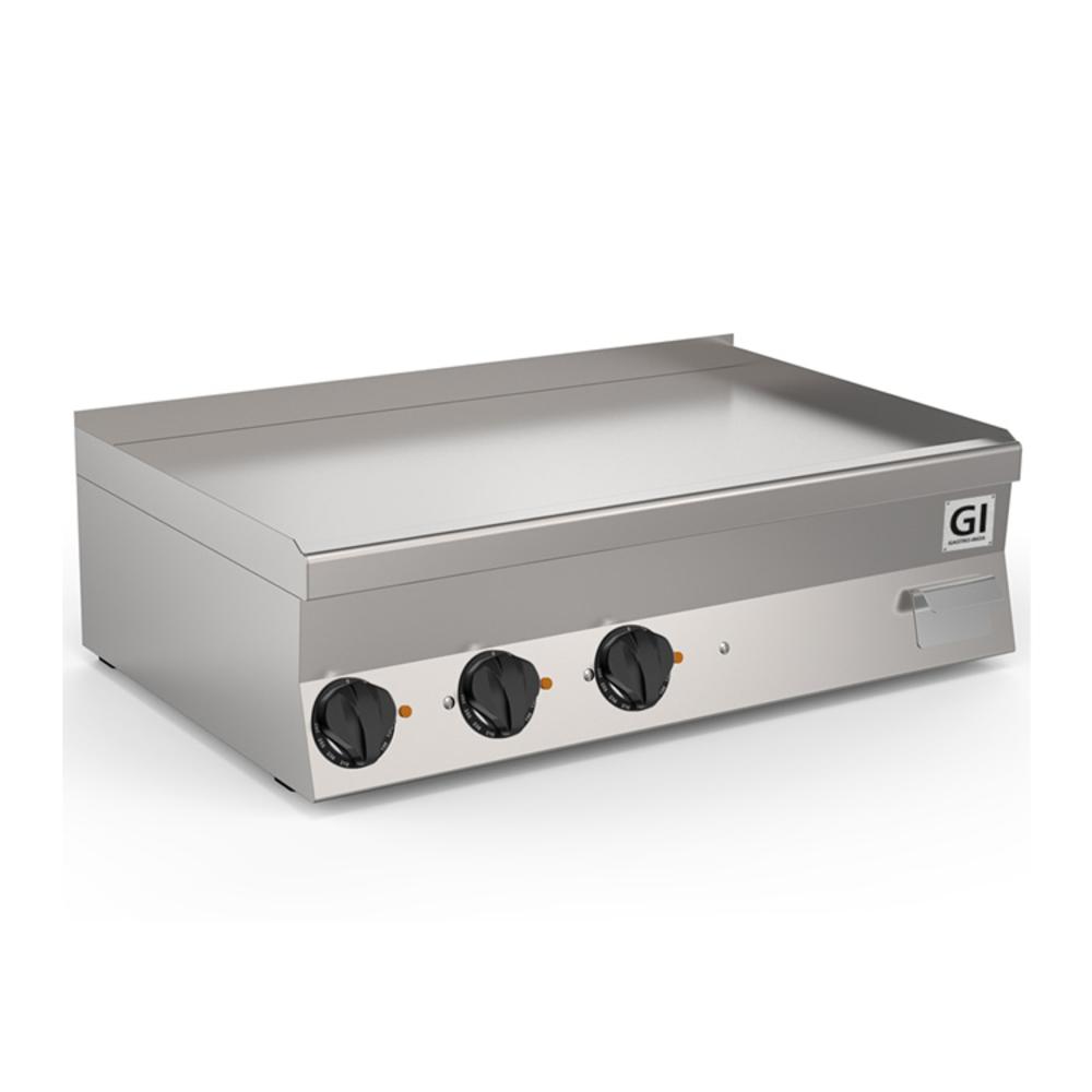 650 HP elektrische bakplaat met gladde geslepen speciaal stalen plaat 100cm   11,7kW/h   1000x600x295(h)mm