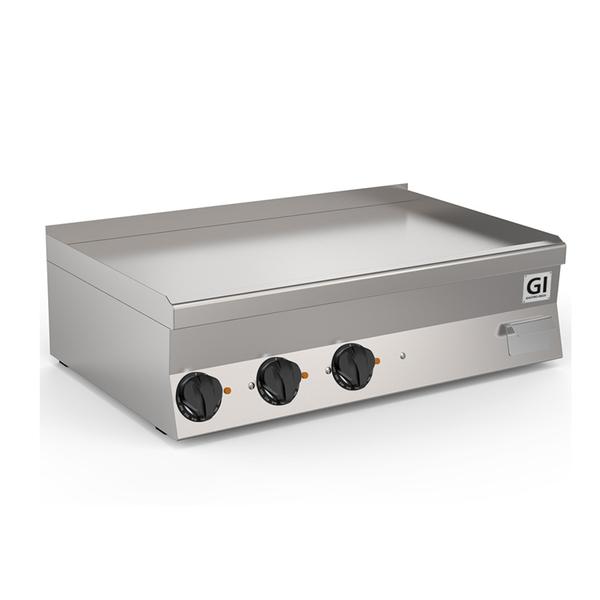 650 HP elektrische bakplaat met gladde verchroomde plaat 100cm | 11,7kW/h | 1000x600x295(h)mm
