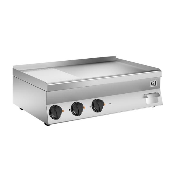 650 HP elektrische bakplaat 2/3 glad - 1/3 geribbeld RVS plaat 100cm | 11,7kW/h | 1000x600x295(h)mm